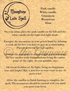 Magick Spells:  Moonstone Love #Spell.