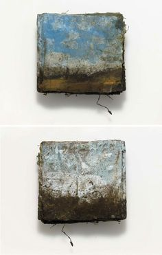 Blue Book, Landscape Series (front and back covers) - artists book by Kimberly Kersey Asbury
