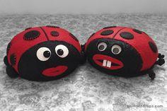 So cute! Ladybug pincushion tutorial