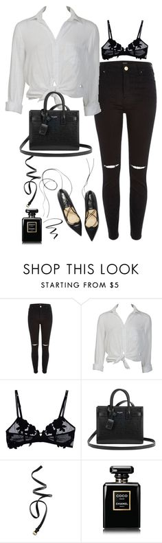 """""""Untitled#4428"""" by fashionnfacts ❤ liked on Polyvore featuring River Island, Charlotte Russe, La Perla, Yves Saint Laurent, H&M, Chanel and L'Oréal Paris"""