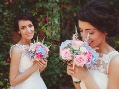 Pastel colors match perfectly with a delicate bride!