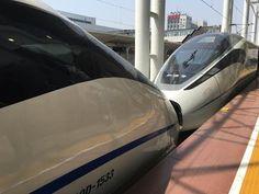 CRH China High Speed Rail Train Entering Shanghai Hongqiao Railway Station (CRH380D重聯列車進入上海虹橋站) - YouTube