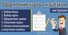 https://richpro.ru/finansy/karta-s-kjeshbjekom-kakuju-vybrat-i-kto-predlagaet-luchshie-karty-s-cashback.html - Оформление карты с кэшбеком - инструкция