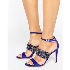 Forever Unique Willow Multi Strap Heeled Embellished Sandal