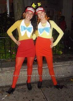 Disneys Tweedle Dee And Tweedle Dum Womens Couple Costume