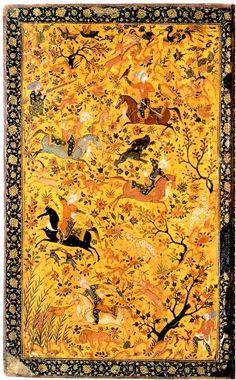 Hunting scene Lacquer Bookcover