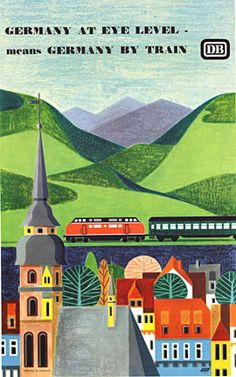 GERMANY AT EYE LEVEL, 1964, artist A. Peicher. See this one and more at www.TheVintagePoster.com