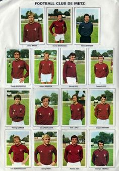 FC Metz stickers in Fc Metz, Football Soccer, Baseball Cards, Retro, Blog, 1970s, Goal, Stickers, About Football