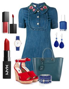 """""""Jeans"""" by ebramos ❤ liked on Polyvore featuring Gucci, Dolce&Gabbana, Jimmy Choo, GUESS, Chico's, Essie and Smashbox"""