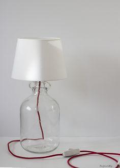 Cómo hacer una lámpara de mesa usando una damajuana paso a paso