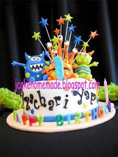 Little monster birthday cake by Jcakehomemade, via Flickr