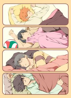 Haikyuu!! :: Sleepy boys <3