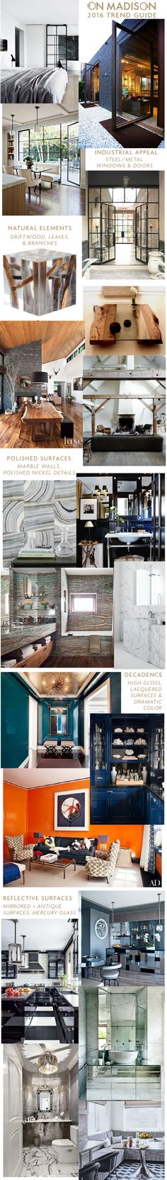 2016 Interior Design Trends via the Madison Modern Blog
