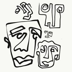 myart - one line Mural Painting, Abstract Styles, Wire Art, Tattoo You, Easy Drawings, Line Drawing, Digital Illustration, Art Inspo, Doodles