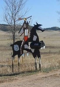 War Pony with Native American Rider Mailbox