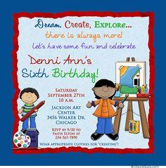 Little Artist Birthday Invitation