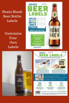 Premium Quality Beer Label Vinyl Decal Sticker Micro Brewery Home Brew Bottle