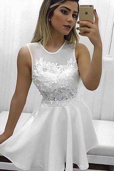 Elegant Homecoming Dresses,A-Line Homecoming Dress,Jewel Prom Dresses,Sleeveless