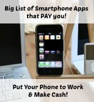 Big list of smartphone apps that pay you!