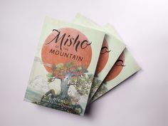 """Cover art is in for my children's book, """"Misho of the Mountain."""" Sign up at my website for news, discounts, and author visits. I'm experimenting with apps to create inviting book mockups. Illustration by Daria Theodora; cover design & calligraphy by Patrick Knowles. #kidlit #childrensbook #illustration #coverreveal #coverart #paperback"""