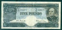 Australian   £5  Predecimal Note. VF. have a look