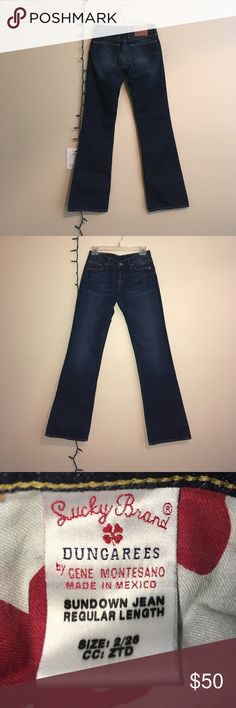 Boot Cut Lucky Brand Jeans 26 26 inch waist with 31 inch inseam, boot cut medium wash Lucky Brand dungarees. Worn gently and in great condition. Lucky Brand Jeans Boot Cut