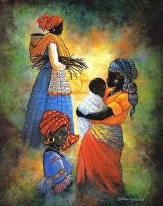 African Women IIhttp://americangallery.wordpress.com/2010/12/01/kathleen-english-pitts-1945-2006/
