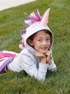 DIY No-Sew Unicorn Halloween Costume