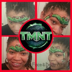 Olga Meleke inspired Teenage Mutant Ninja Turtle face painting design by CaBeatrice Hart of Evolutionz Face & Body Art Milwaukee, WI  face painter.