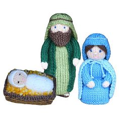 """Christmas Nativity - Joseph, Mary and Baby Jesus - This pattern is available for £2.00 GBP. """"Away in a manger no crib for a bed, the little Lord Jesus lay down his sweet…"""" Recreate the story of Mary and Joseph's journey to Bethlehem and the birth of Baby Jesus. These adorable characters are a perfect size for young children to play with and enjoy, and learn about the greatest story ever told."""
