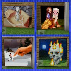 I found the 4 most rare pictures from minecraft!!!