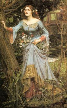 Ophelia (blue dress) - 1905 John William Waterhouse