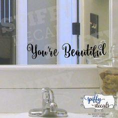 Bathroom Mirror You Look Fine you look fine - vinyl wall decal sticker bathroom mirror