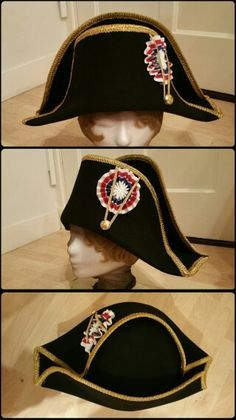 Bicorne hat  made popular by Napoleon Bonaparte 9b600e6db39