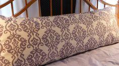 Body Pillow Cover- Gorgeous Lavendar Waverly 100% cotton home design fabric. $28.00, via Etsy.