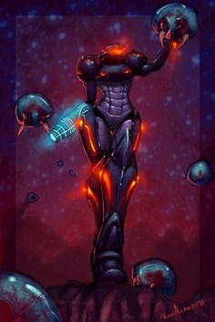My first metroid game was super metroid, after having beat that, I've always thought as Samus as a mother to that specific metroid, there was a strong bond between the two. I hated to see mother br...