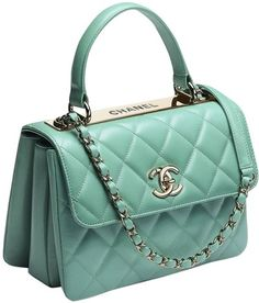 9d024397c709 Classic Flap Trendy Cc Minty Limited Edition Ghw Rare Green Leather Cross  Body Bag