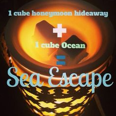 Escape to a seaside getaway by adding 1 cube Honeymoon Hideaway + 1 cube Ocean in your warmer. Aaaahhh, can you hear the waves?? https://ashleyprintz.scentsy.us/