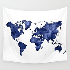 Wall Hanging World Map Tapestry Map Tapestry Blue and White Dorm Tapestry Large Map Art Map Hanging Large Art of Map of Countries World Map Tapestry, Dorm Tapestry, Blue Tapestry, Tapestry Bedroom, Hanging Tapestry, Tapestries, Bohemian Tapestry, Blue Rooms, Blue Bedroom