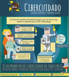 Cibercuidado: cuídate dentro y fuera de la red #infografia #infographic #internet