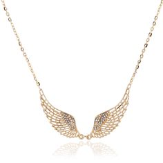 Cheap necklace display, Buy Quality necklac directly from China necklace bridal Suppliers:             Women Fashion Angel Wing Crystal Necklace Choker 2016 New Gold/Silver Plated Charming Maxi Penda