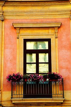Beautiful window in Sicily, Italy