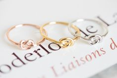 simple knuckle heart knot ring,R100N