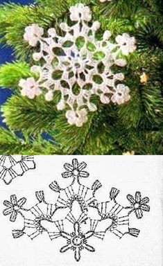 Crochet Christmas Ornaments Patterns Angels Ideas Knitting ProjectsCrochet For BeginnersCrochet PatronesCrochet Bag Crochet Snowflake Pattern, Crochet Stars, Crochet Motifs, Crochet Snowflakes, Thread Crochet, Crochet Doilies, Crochet Flowers, Crochet Patterns, Crochet Angels