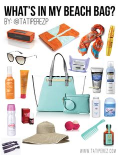 beach bag essentials, what to bring to the beach, beach must haves, beach bag