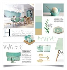 white and mint by levai-magdolna on Polyvore featuring interior, interiors, interior design, home, home decor, interior decorating, Ciel, Vera Wang, Dedal and LSA International