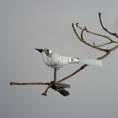 vintage glass bird
