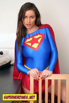 Kyla Cole in her Supergirl superheroine costume