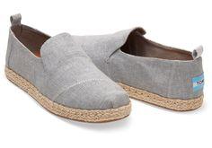 309f8942f2e TOMS Deconstructed Alpargatas Drizzle Grey Shoes