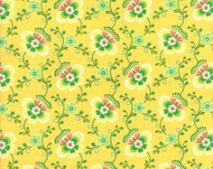 SALE - Butternut Yellow Molly Folklore 1/2 Yard Fabric by Lily Ashbury